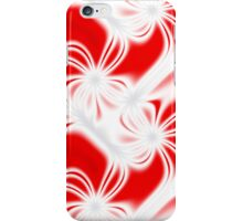 Red curved fractal pattern iPhone Case/Skin