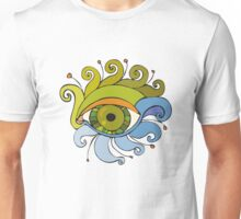 Eyes with eyelashes in the form of tentacles Unisex T-Shirt