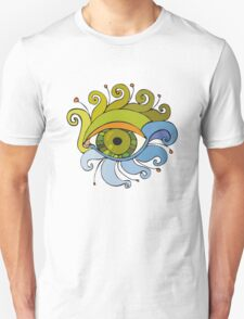 Eyes with eyelashes in the form of tentacles T-Shirt