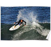Surfing at Winkipop Poster