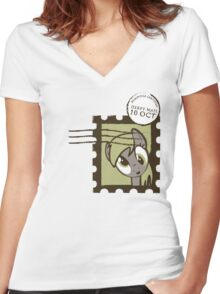 Derpy Mail Women's Fitted V-Neck T-Shirt