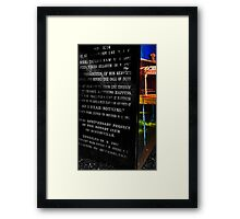 Paddy Bugden - V.C. winner from a country town Framed Print