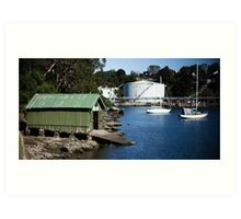 Boat Shed, Gore Cove, Sydney Harbour Art Print