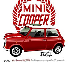 Classic 1990 Mini Cooper RSP red by car2oonz