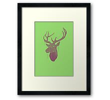 The Deer Head Framed Print