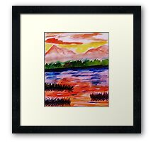 The other side of the Rio Grande, watercolor Framed Print