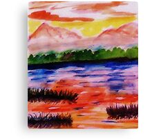 The other side of the Rio Grande, watercolor Canvas Print