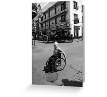 French Quarter Transportation Greeting Card