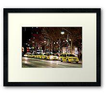 Taxi Rank Framed Print