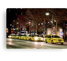 Taxi Rank Canvas Print