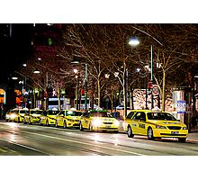 Taxi Rank Photographic Print