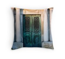 Green Corrosion Throw Pillow