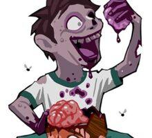 Zombie Brains Sticker