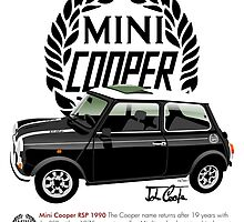 Classic 1990 Mini Cooper RSP black by car2oonz