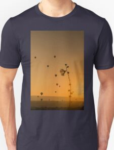 Flower and its leaves framed with balloons T-Shirt