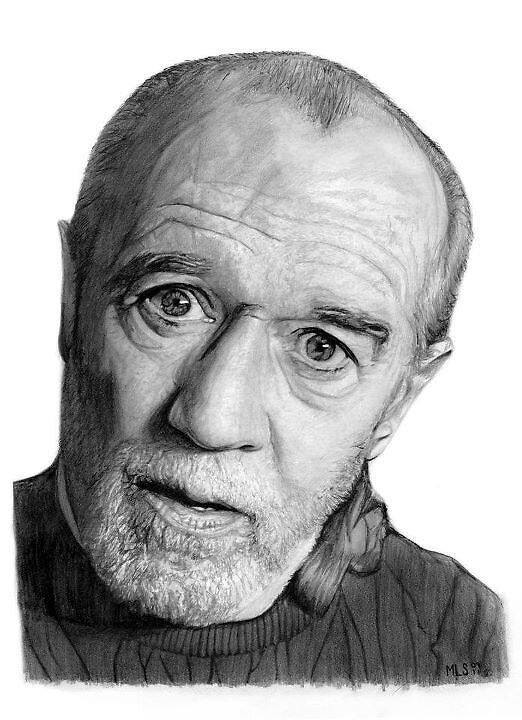 George Carlin by Martin Lynch-Smith