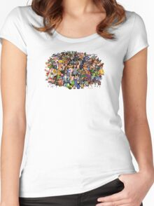 Amiga Game Characters Women's Fitted Scoop T-Shirt