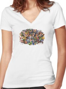 Amiga Game Characters Women's Fitted V-Neck T-Shirt