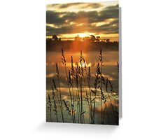 Morning Mist above the Loch Greeting Card