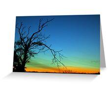 Layered Sunset  Greeting Card