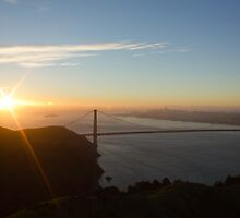Sunrise over San Francisco Bay by Philip Kearney