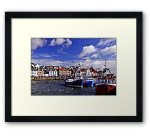 Prawn Boats in The Harbour Framed Print