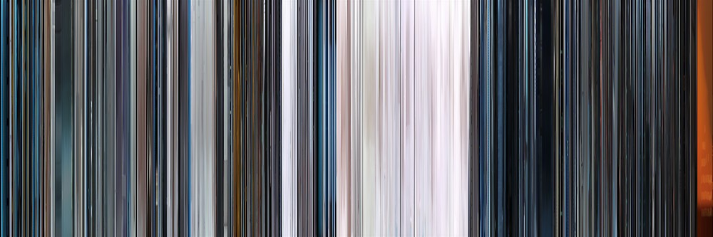 Moviebarcode: THX 1138 (1971) by moviebarcode