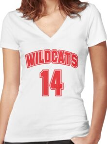 Wildcats 14 Women's Fitted V-Neck T-Shirt