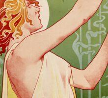 Absinthe Robette 1896 Vintage Poster Restored Sticker