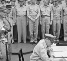 General MacArthur Signing The Japanese Surrender Sticker