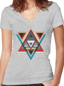 Trig.Ger  Women's Fitted V-Neck T-Shirt