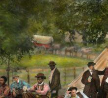 Civil War - Gettysburg camp of Captain Huft 1865 Sticker