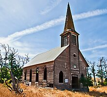 Locust Grove Church, Sherman County, Oregon USA by Bryan D. Spellman