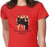 B&B in black Womens Fitted T-Shirt
