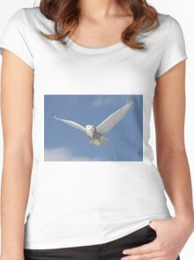 Snowy Angel Women's Fitted Scoop T-Shirt