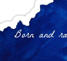 Born and Raised Blue Kentucky Sticker