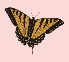 Butterfly - Orange Baby Tee