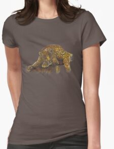 Swirly Leopard Womens Fitted T-Shirt