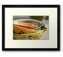 Measured.... Framed Print