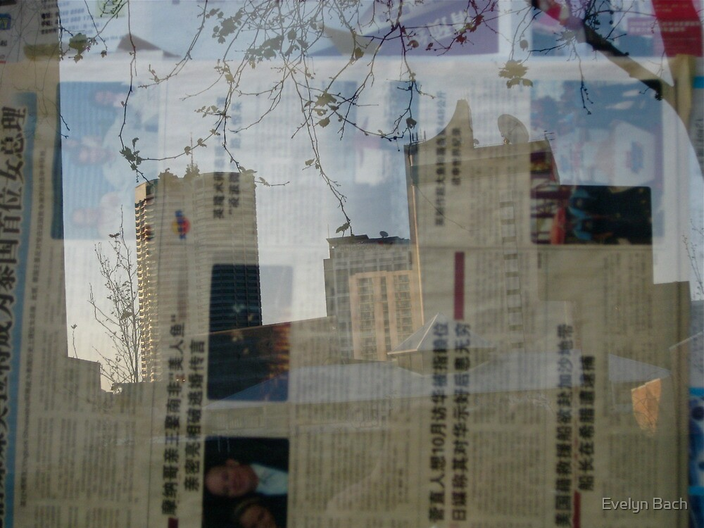 Newspaper City by Evelyn Bach