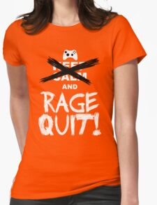 RAGE QUIT! The Xbox Version Womens Fitted T-Shirt