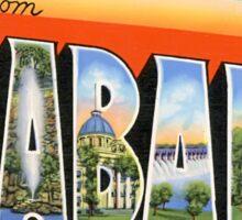 Greetings From Alabama Vintage Postcard Sticker Sticker