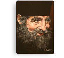 Greek Priest, Father Petros. Canvas Print