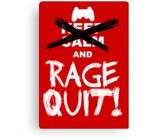 RAGE QUIT! Poster (PS3 Version) Canvas Print
