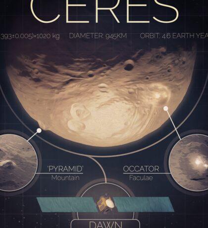 Dwarf Planet Ceres Infographic NASA Sticker