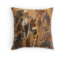 The Winners of The Hickstead Show Jumping Derby. Throw Pillow