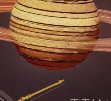 Planet Saturn Infographic NASA Sticker