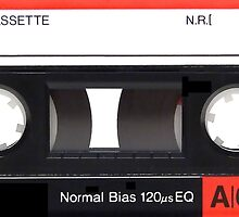 Cassette Tape Mixtape A60 Label Sticker by ukedward