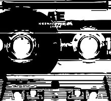 Cassette Tape Mixtape Stencil Sticker by ukedward
