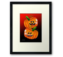 SAVAGE PUMPKINS Framed Print